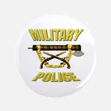 """Military Police Fasces w/ Pis 3.5"""" Button"""