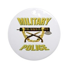 Military Police Fasces w/ Pis Ornament (Round)