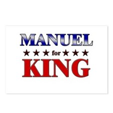 MANUEL for king Postcards (Package of 8)