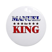 MANUEL for king Ornament (Round)