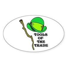 Leprechaun Tools of the Trade Oval Decal