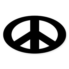 Black Peace Sign (bumper sticker)