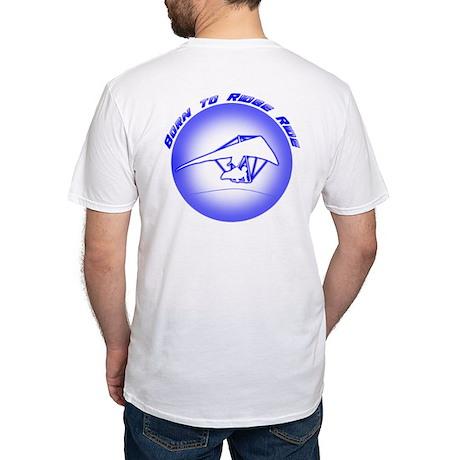 Hang Gliding Ridge Ride Blue Fitted T-Shirt