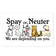 Spay or Neuter - Depending On You Postcards (Packa