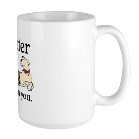 Spay or Neuter - Depending On You Large Mug