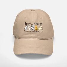 Spay or Neuter - Depending On You Baseball Baseball Cap