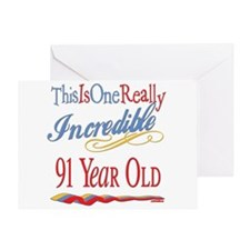 Incredible At 91 Greeting Card