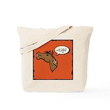 Neigh! Horse Head Tote Bag