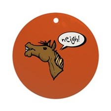 Neigh! Horse Head Ornament (Round)