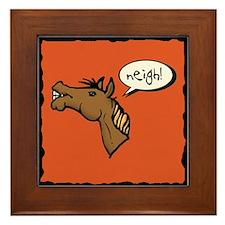 Neigh! Horse Head Framed Tile