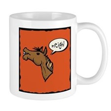 Neigh! Horse Head Small Mug