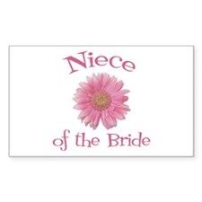 Daisy Bride's Niece Rectangle Decal