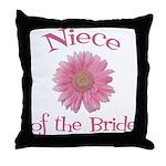 Daisy Bride's Niece Throw Pillow