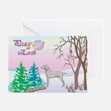 Peace On Earth Weimaraner Holiday Greeting Card