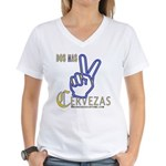 Cervezas Women's V-Neck T-Shirt