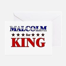 MALCOLM for king Greeting Card