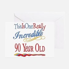 Incredible At 90 Greeting Card