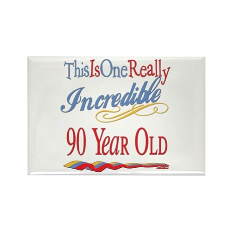 Incredible At 90 Rectangle Magnet (100 pack)