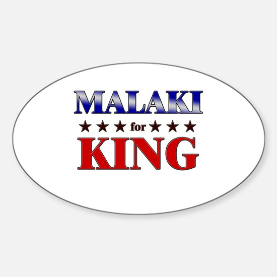 MALAKI for king Oval Decal