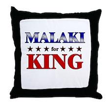 MALAKI for king Throw Pillow