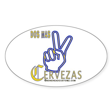 Cervezas Oval Sticker