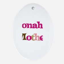 Jonah's Mother  Oval Ornament