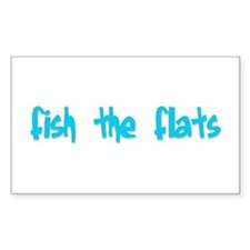 fish the flats Rectangle Decal