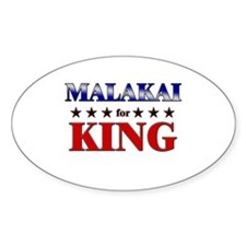 MALAKAI for king Oval Decal