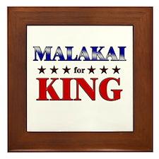 MALAKAI for king Framed Tile