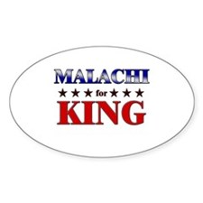 MALACHI for king Oval Decal