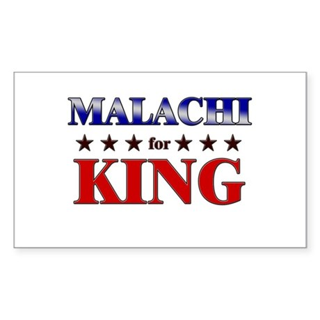 MALACHI for king Rectangle Sticker