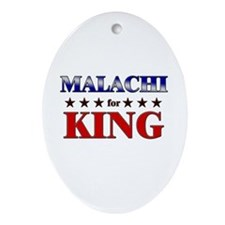 MALACHI for king Oval Ornament