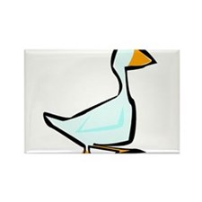 ANOTHER WHITE GOOSE Rectangle Magnet