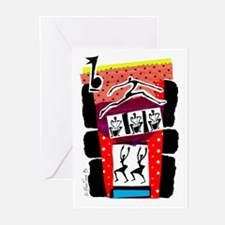 Dancers & Drummers Greeting Cards (Pk of 10)