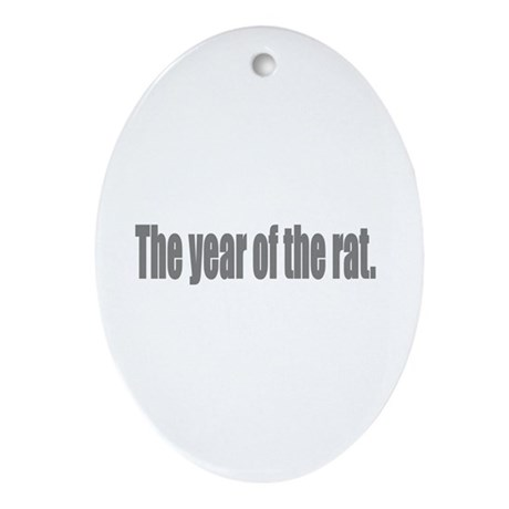 The year of the rat Oval Ornament