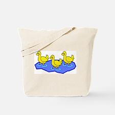 DUCKS IN WATER Tote Bag