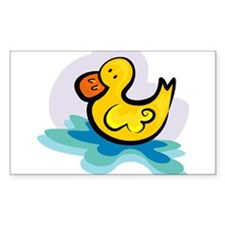 YELLOW DUCKY Rectangle Decal