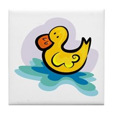 YELLOW DUCKY Tile Coaster