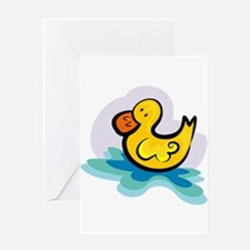 YELLOW DUCKY Greeting Card
