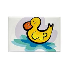 YELLOW DUCKY Rectangle Magnet