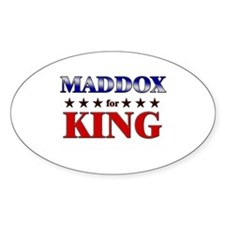 MADDOX for king Oval Decal