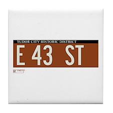 43rd Street in NY Tile Coaster