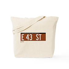 43rd Street in NY Tote Bag