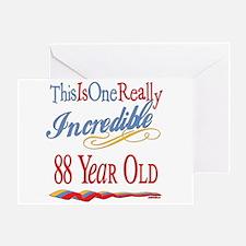 Incredible At 88 Greeting Card