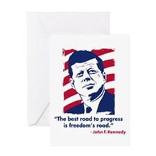 JFK Quote Greeting Card