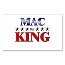MAC for king Rectangle Decal