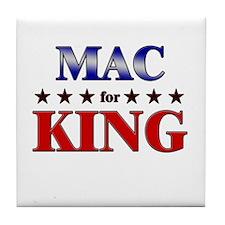 MAC for king Tile Coaster