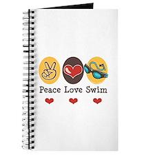 Peace Love Swim Swimmer Journal