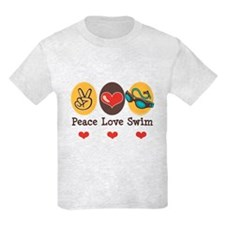 Peace Love Swim Swimmer T-Shirt