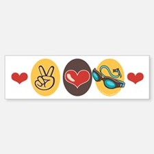 Peace Love Swim Swimmer Bumper Bumper Bumper Sticker